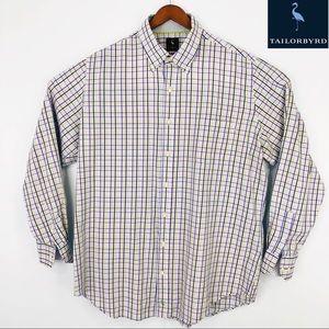 Mens longsleeve Tailorburd plaid button-down shirt
